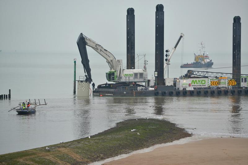 Mesure de boue défense côtière Maarten van Oord