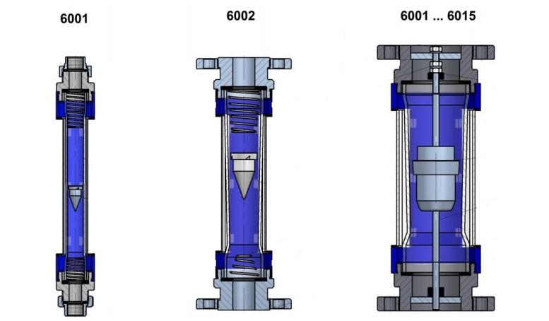 Tecfluid débitmètre à section variable pour faibles débits de gaz et liquides série 6000