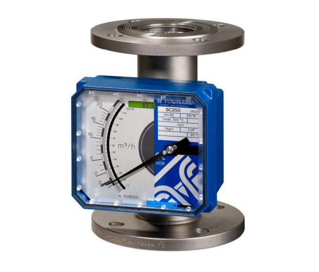 Tecfluid modèle SC250 - Débitmètre à section variable tube métal pour liquides, gaz et vapeur
